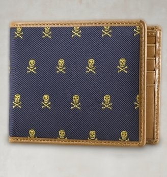 Rugby Silk & Leather Wallet