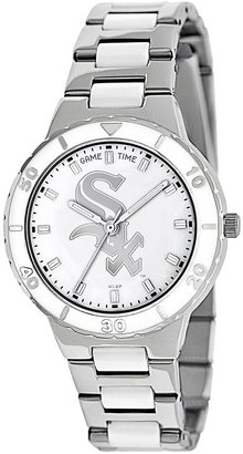 Game Time Pearl Series Chicago White Sox Stainless Steel & White Ceramic Mother-of-Pearl Watch - MLB-PEA-CWS - Women