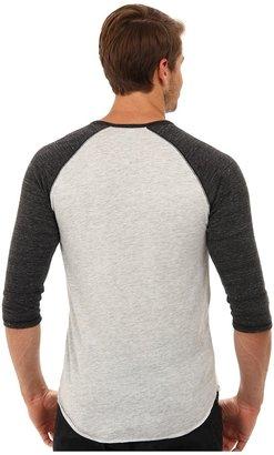 Alternative 3/4 Raglan Henley Men's Long Sleeve Pullover