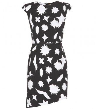 Saint Laurent Printed crepe dress