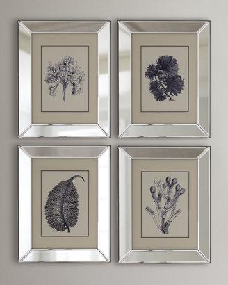 4-Piece Blue Coral Print Set