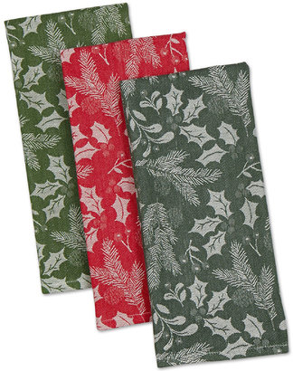 JCP Holiday Greenery Set of 3 Kitchen Towels