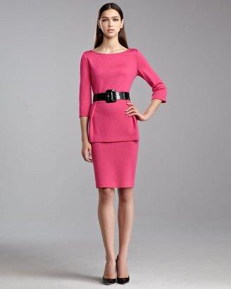 St. John Milano Knit Pencil Skirt, Haute Pink