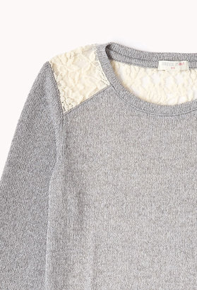 Forever 21 Girls Pretty Lace Sweater (Kids)