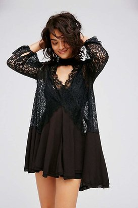 Secret Origins Pieced Lace Tunic by Free People $128 thestylecure.com
