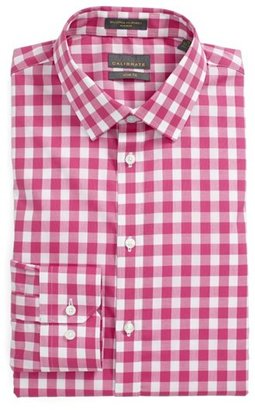 Calibrate Slim Fit Non Iron Gingham Dress Shirt