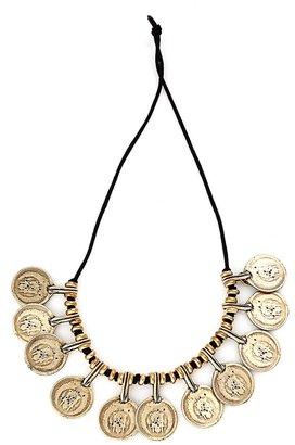 Vanessa Mooney La Vida Boheme Necklace in Gold as seen on Vanessa Hudgens