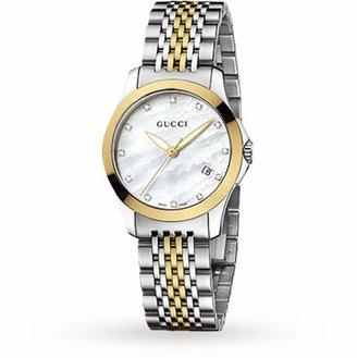 Gucci YA126513 Timeless Bi-Colour Ladies Watch