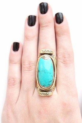 Natalie B Tibet Ring in Turquoise