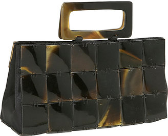 Global Elements Rectangle Buffalo Horn Handbag