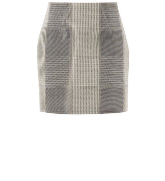 Alexander Wang Liquid-check neoprene skirt