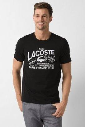 Lacoste Big Short Sleeve And Croc Graphic T-Shirt