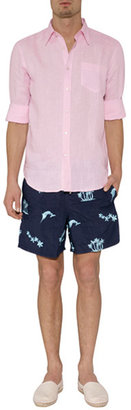 Vilebrequin Marine Blue/Pacific Embroidered Mistral Trunks