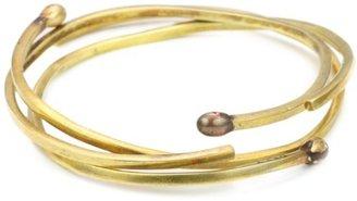 Monserat De Lucca Brass Burnt 3pc Matchstick Bracelet Set