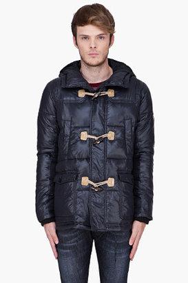 Diesel Black Hooded Toggle Front Wikunapi Jacket