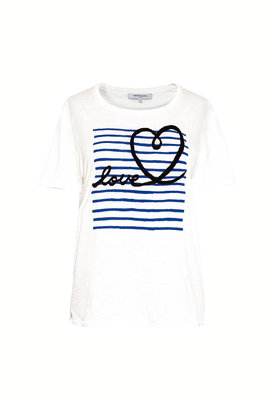 Gerard Darel Jelena - Printed Cotton T-shirt With Embroidery