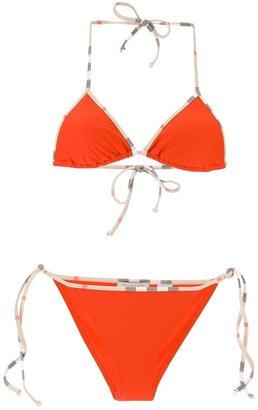 Burberry check detail bikini