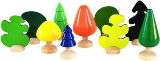 Green Baby CitiBlocs Colorful Trees Set (10 pcs)