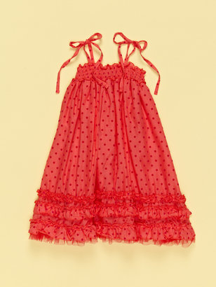 Halabaloo Flock Dot Dress