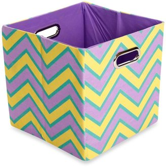 Bed Bath & Beyond Modern Littles Sweets Canvas Folding Storage Bin in Zig Zag