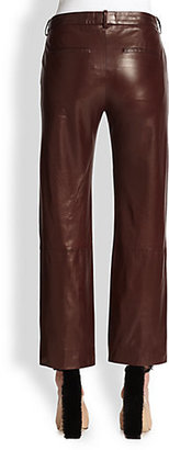 Reed Krakoff Cropped Leather Pants