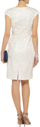 Mikael Aghal Satin-trimmed lace dress