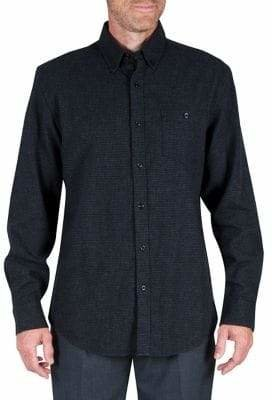 Haggar Heritage Houndstooth Regular-Fit Heavy Flannel Button-Down Shirt