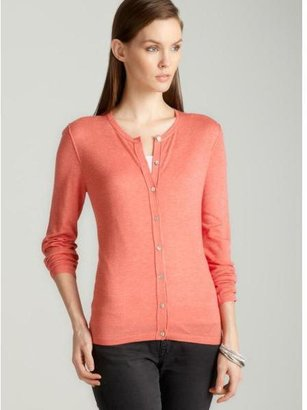 August Silk Crew neck cardigan in coral $26.99 thestylecure.com