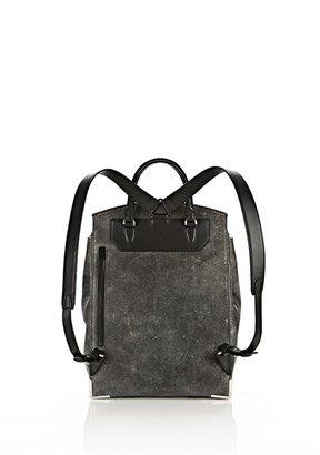 Alexander Wang Prisma Skeletal Backpack In Black With Rhodium