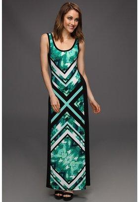 Calvin Klein Block Print Maxi (Emerald/Black) - Apparel
