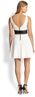 Alice + Olivia Rowan Lace Waistband Dress