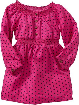 Old Navy Printed Crepe Dresses for Baby