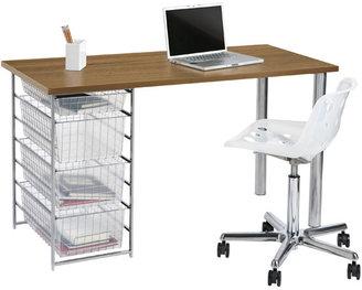 Elfa Mesh Component Desk Coffee & Platinum