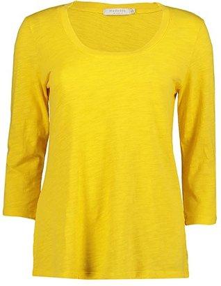 Mod-o-doc Slub Jersey 3/4 Sleeve Scoop Neck Tee (Limone) Women's T Shirt