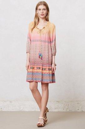 Anthropologie Blushed Spectrum Peasant Dress