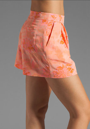 Rebecca Taylor Hibiscus Pleat Short