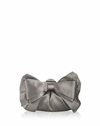 Judith Leiber Couture Madison Satin Bow Clutch Bag, Silver Platinum $1,995 thestylecure.com