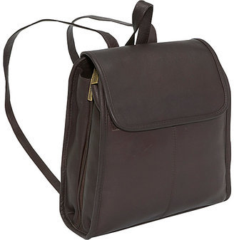 Le Donne Leather Womens 3 Compartment Back Pack