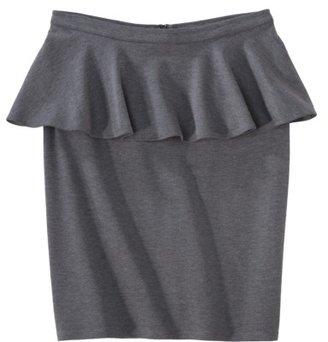 Mossimo Womens Ponte Peplum Skirt - Assorted Colors