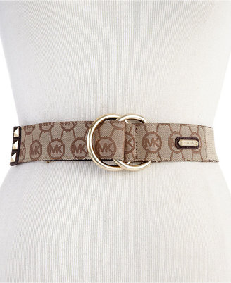 MICHAEL Michael Kors Belt, Logo Ring Pullback with Pyramid Stud Tip
