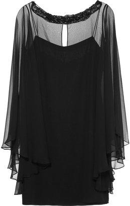 Notte by Marchesa Embellished silk-chiffon dress