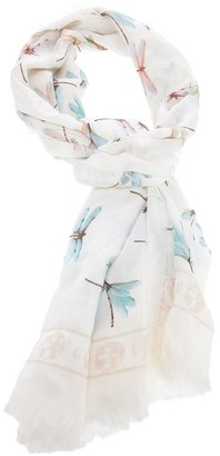 Alexander McQueen dragonfly print scarf