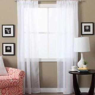 Ricardo Lucerne Sheer 96-inch Curtain Panel Pair - 52 x 96 - 52 x 96