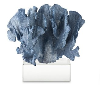Williams-Sonoma Blue Coral Sculpture on Glass Base