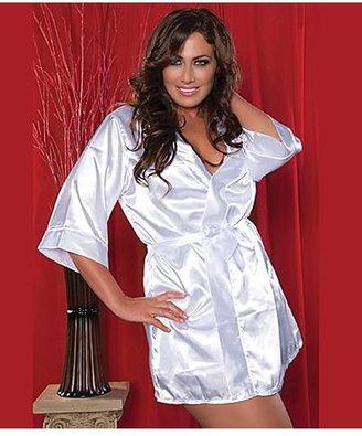 Seven Til Midnight Seven 'til Midnight Flawless Short Robe Plus Size Sleepwear