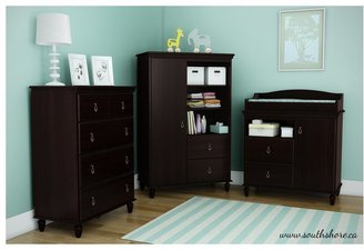 South Shore Moonlight Collection 4-Drawer Chest - Dark Mahogany