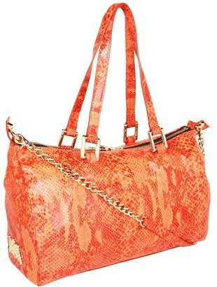 Juicy Couture Silvia Snake Embossed Satchel (Fire Opal) - Bags and Luggage