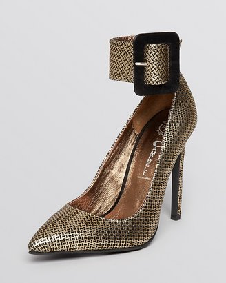 Jeffrey Campbell Pointed Toe Pumps - Leche High Heel