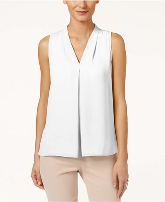 Vince Camuto Inverted-Pleat Blouse $69 thestylecure.com