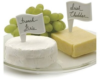 RSVP International White Porcelain Cheese Flags - Set of 6